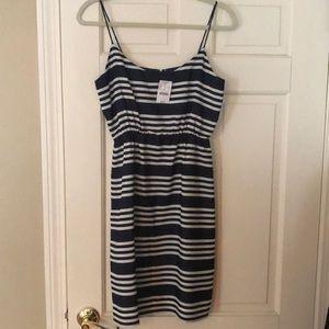 J. Crew Dresses - Navy striped dress